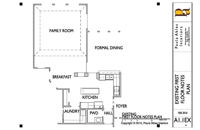 Kitchen Remodel Existing Floor Plan