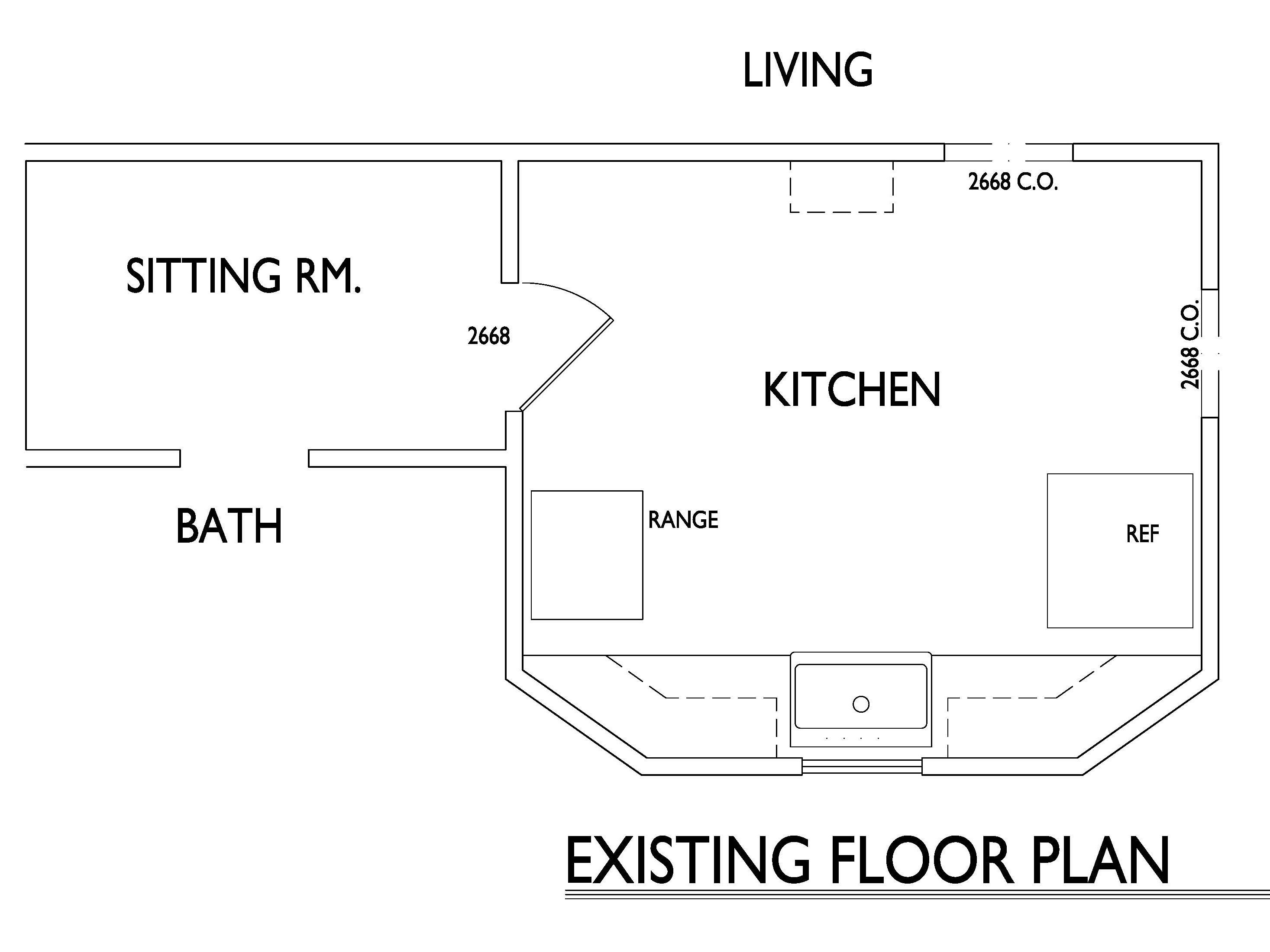 Grandma's Kitchen Existing Floor Plan