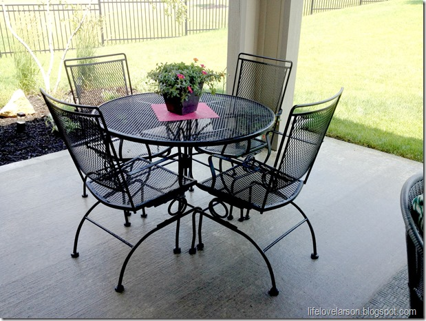 Outdoor living part 1 dining paula ables interiors - Best outdoor furniture for small spaces paint ...