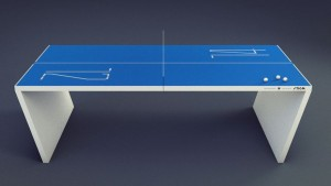 Modern ping pong table for the Man Cave