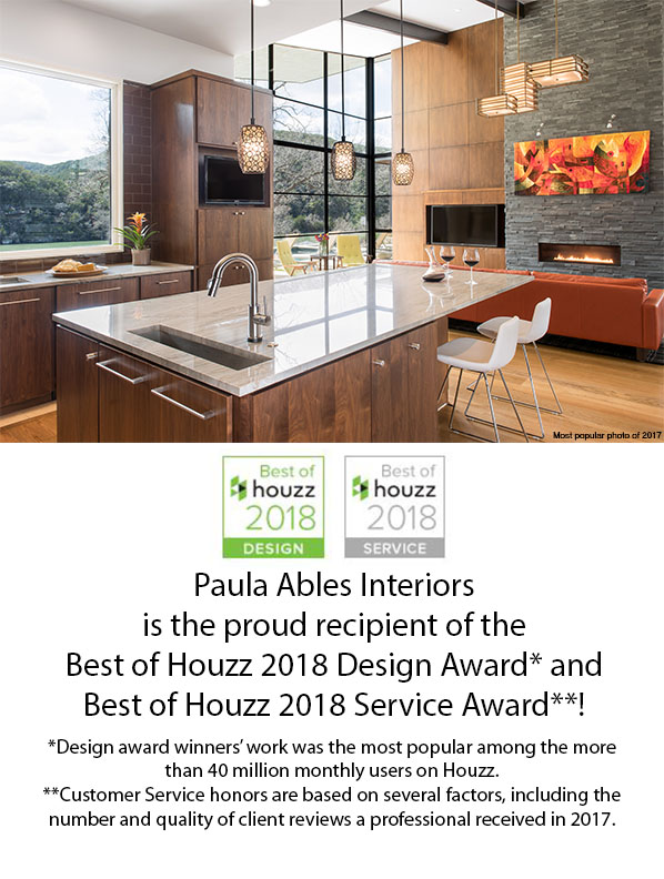 Paula Ables Interiors Houzz Award