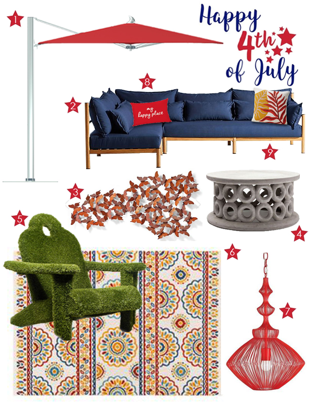 furniture fun for outdoor in July