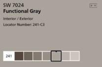 Sherwin William's Color of the Month: Functional Gray